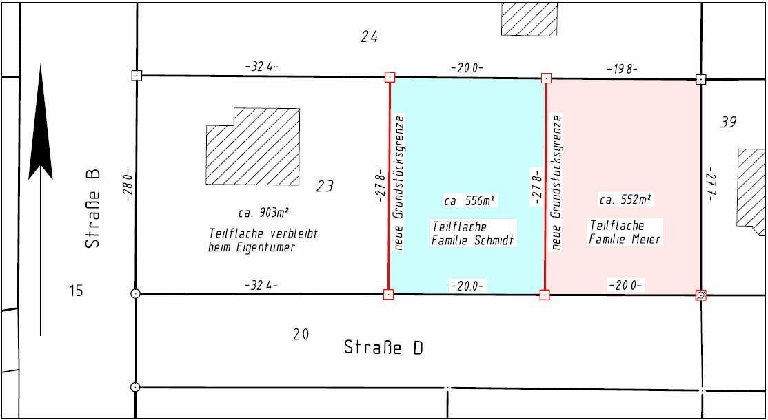Teilung Von Grundstucken Teilungsvermessung Ingenieurburo Noffke